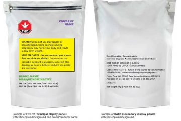 packaging labels cannabis