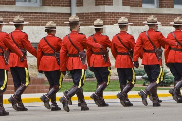 Sergeant Major's Parade and graduation ceremony at the RCMP Academy, Regina, Saskatchewan, Canada