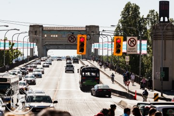 Burrard Bridge traffic