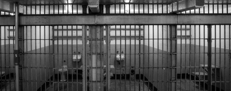 Cells in Alcatraz prison, San Francisco, California