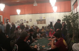 Charity Poker Green Ceiling