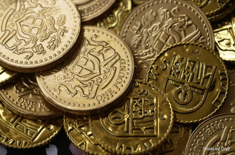 Bitcoin Money Coins Rich Wealth Gold Currency