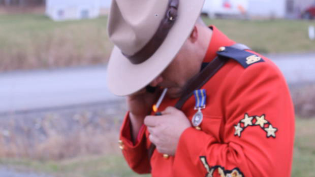 RCMP-Mountie-lights-up
