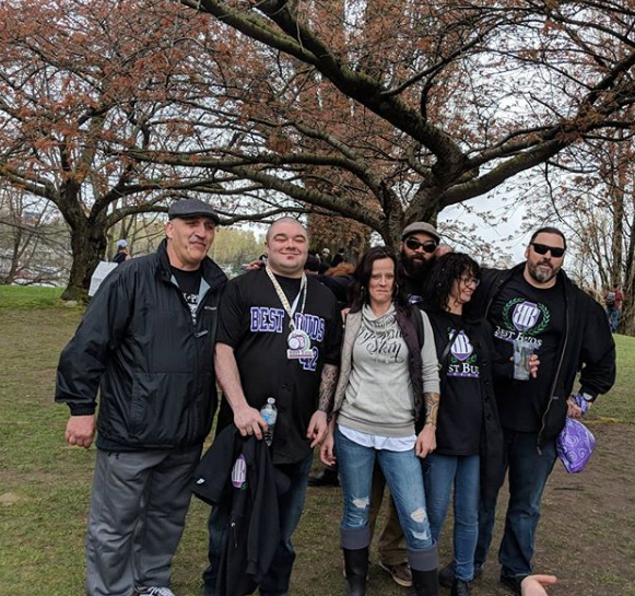 Pat and friends at Susnet Beach for Vancouver's 420 festival. Photo courtesy of Best Buds Society's Instagram.